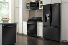 Matte black appliances are timeless and go with any style. For an instant matte black makeover, shop LG Matte Black Kitchen Appliances at Best Buy. Tiny House Appliances, Kitchen Appliances, Small Appliances, Electronic Appliances, Electrical Appliances, Stainless Appliances, Black Kitchens, Home Kitchens, Kitchen Black