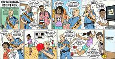 Cartoons about current affairs. Brian Mcfadden, Good Cartoons, Classroom Images, Ny Times, Monitor, Comics, Funny, Kos, Friday