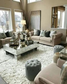 Incredible teal and silver living room design ideas Incredible teal and silver living room design ideas living room decor farmhouse Check this useful article by going to the link at the image. Cozy Living Rooms, Formal Living Rooms, Living Room Interior, Home Living Room, Living Room Designs, Living Room Decor Elegant, Living Room Goals, Living Area, Silver Living Room