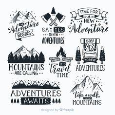 Mountain Designs, Cricut Creations, Coffee Quotes, Cricut Design, Vector Free, Free Vector Downloads, Logo Design, Design Set, Stickers