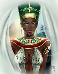 for ImaniJC Nefertiti Egyptian Queen, Egyptian Goddess, Egyptian Art, Egyptian Beauty, Egyptian Costume, Black Girl Art, Black Women Art, Anubis, Sphynx