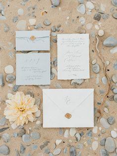 Organic seaside wedding inspiration