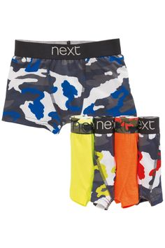 d2b11a08fa Buy Fluro Camo Trunks Five Pack (2-16yrs) from the Next UK online shop