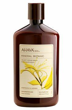 AHAVA Honeysuckle & Lavender Mineral Botanic Velvet Cream Wash.