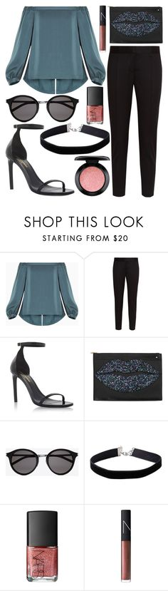 """""""Untitled #702"""" by daimy-style ❤ liked on Polyvore featuring BCBGMAXAZRIA, STELLA McCARTNEY, Yves Saint Laurent, Charlotte Olympia, Miss Selfridge, NARS Cosmetics and MAC Cosmetics"""