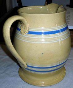 yellowware pitcher