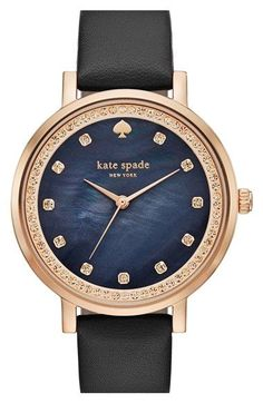 kate spade new york 'monterey' leather strap watch, 35mm available at #Nordstrom #womenwatches