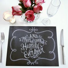 25 Tear-Out Wedding Paper Placemats - And They Lived Happily Ever After