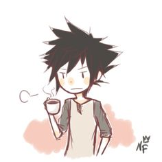 Kingdom Hearts: Birth by sleep Vanitas (morning ~Sips on a cup of coffee~)