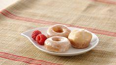 Mini Baked Donuts with Raspberry Glaze