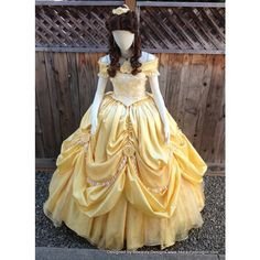 Belle Beauty & the Beast 2013 New Park Look Princess Dress Gown Adult (6,510 MYR) found on Polyvore