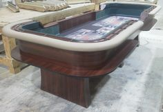 10' or 12' craps table with traditional legs