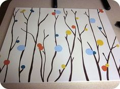 Two Girls Being Crafty: Painted Wall Art for Non-Artists