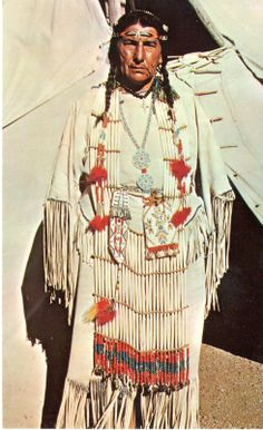 Postcard of Native American Indian Louise Plentyholes Oglala Sioux Pineridge Res