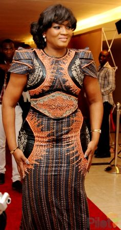 TIME Icon and actress, Omotola Jalade Ekeinde said in a recent interview with Encomium, that she inherited her physical endowment from her mo