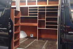Van Shelving, Shelving Ideas, Shelves, Van Storage, Tool Storage, Van Racking, Work Trailer, Transit Custom, Camper Van