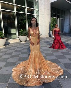 Sparkle Sequin Prom Dress Long Sequins Evening Dress for Black Girls,Deep V Neck Open Backs Evening Gowns sold by KProm. Shop more products from KProm on Storenvy, the home of independent small businesses all over the world. Black Girl Prom Dresses, African Prom Dresses, Senior Prom Dresses, Pretty Prom Dresses, Prom Outfits, Night Outfits, Sequin Evening Dresses, Evening Gowns, Open Back Evening Gown