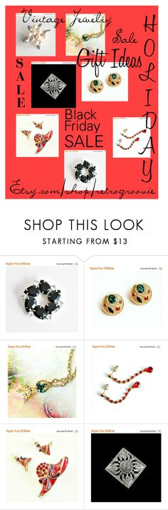 """""""Holiday Jewelry Sale"""" by retrogroovie ❤ liked on Polyvore featuring Avon and vintage"""