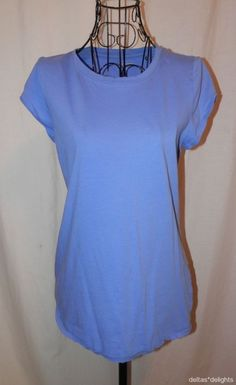 PILCRO LETTERPRESS TOP TEE M Medium Solid Purple Short Sleeve ANTHROPOLOGIE #PilcroandtheLetterpress #KnitTop #Casual