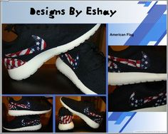 Black Nike Roshe Runs Patriot   Eshays, LLC