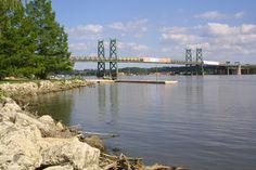 Interstate 74 bridge over the Mississippi June 4, 2012