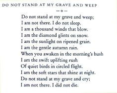 Possibly the saddest thing I've ever read. It was my dad's poem.