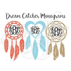Dream Catcher Monogram Frames SVG file for by SophiesPaperHouse
