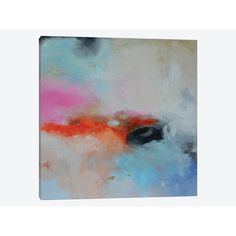 "East Urban Home 'Cotton Candy' by Andrada Anghel Painting Print on Wrapped Canvas Size: 18"" H x 18"" W x 0.75"" D"