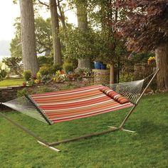 Product Image for Hammock with Pillow in Spice Stripe 1 out of 3