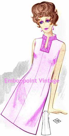 Plus Size (or any size) Vintage 1969 Dress Pattern - PDF - Pattern No 132 Trudy. $8.50, via Etsy.