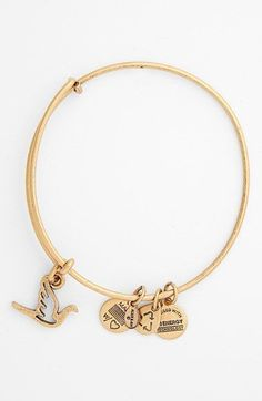 Women's Alex and Ani 'Sacred Dove' Expandable Wire Bangle - Russian Gold (886787005069) Representing illumination, beauty and resilience, dainty logo charms complement the polished dove charm on an expandable bangle that easily adjusts to the perfect fit. Mix and match multiple Alex and Ani styles for a playfully eclectic look. Color(s): dnu russian gold, russian gold, russian silver. Brand: Alex and Ani. Style Name: Alex and Ani 'Sacred Dove' Expandable Wire Bangle. Style Number: 954140.