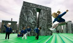 "Jeremy Deller's ""Sacrilege"": a ""full-scale inflatable Stonehenge on Glasgow Green"", 2012."