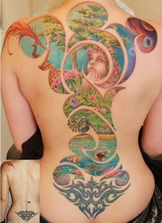 I love tattoos and this is awesome, look at the before and after