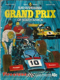 SA Grand Prix Programme – Sport is lifre Escuderias F1, Gp F1, Vintage Race Car, Vintage Ads, Vintage Posters, Grand Prix, Jeep Carros, Nascar, Automobile