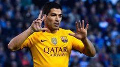 Luis Suárez, después de protagonizar una goleada histórica