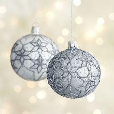North Star Ball Ornaments   Crate and Barrel