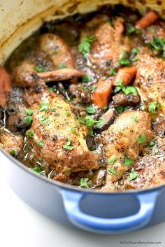 Easy and delicious Coq au Vin Recipe from shewearsmanyhats.com
