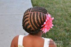 All-Around Cornrows with Bangs   Chocolate Hair / Vanilla Care