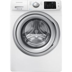 Samsung - 4.2 Cu. Ft. 9-Cycle High-Efficiency Steam Front-Loading Washer - White - Larger Front