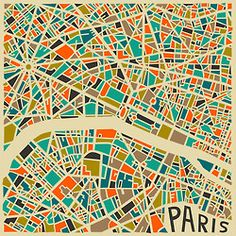 Modern Abstract Maps by Jazzberry Blue