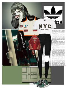 Untitled #852 by chau-bao-ngan on Polyvore featuring mode, Topshop, adidas, Fallon, Hyein Seo, J.W. Anderson and MCM