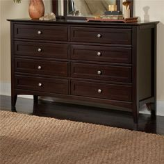 $759 Kensington Double Dresser with Drawers by Aspenhome - Gardiners Furniture - Dresser Baltimore, Towson, Pasadena, Bel Air, Westminster, Catonsville, Maryland