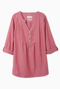 Beautiful & Practical Clothing For Women - Seasalt Cornwall Kale Shirt, Roll Up Sleeves, Smocking, Couture, Indigo, Cool Outfits, Blouse, Feminine, Tunic Tops