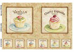 Картинка для декупажа с сладостями 9011005