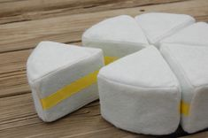 You make a felt cake, then put velcro on the stuff to decorate it...adorable idea for a gift for a kid.