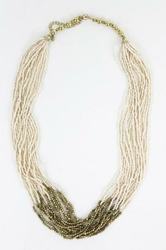 Gold Dip Beaded Layer Necklace