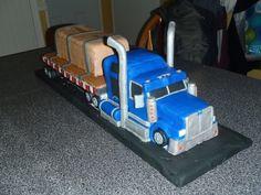 Semi Truck Cake