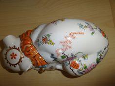 "c.20th - Vintage Japanese Porcelain Hand Painted Cat ""Aichi Seto Japan"" - Mark"