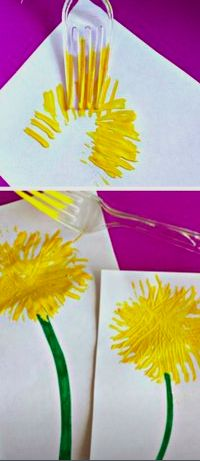 Creating flower our of fork