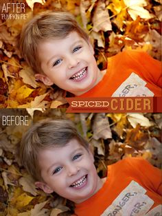Spiced Cider Photoshop Elements Actions from Bellevue Avenue #autumn #fall #PSE #PSE 11